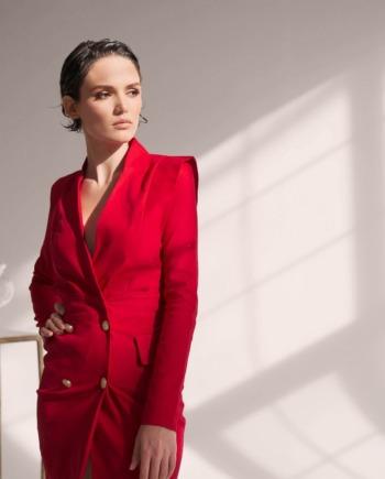 Красное платье — пиджак  «So mad» (арт 181)