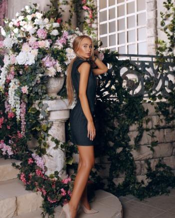 Черное джинсовое Платье Deserves  (Арт 289)