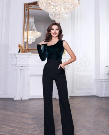 Чёрные брюки с завышенной талией World  (Арт 374)