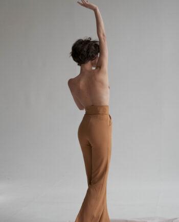 Песочные брюки с завышенной талией  World  (Арт 374)