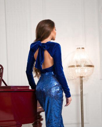Синяя юбка в паетках Vote (Арт 368)