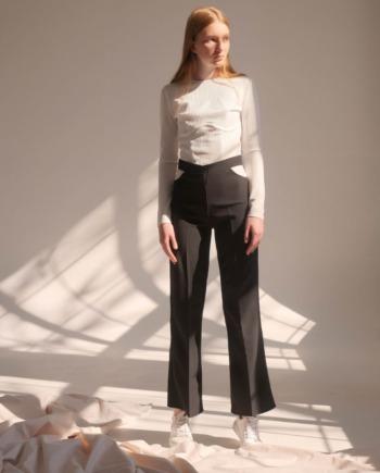 Чёрные брюки с вырезами Limoges (Арт 437)
