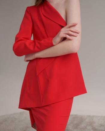 Красный Костюм с юбкой Rennes (Арт 426)