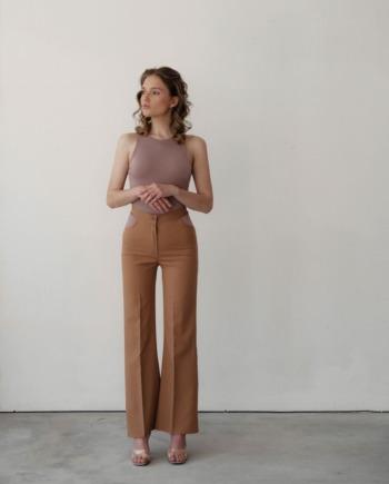 Песочные брюки с вырезами Limoges (Арт 437)