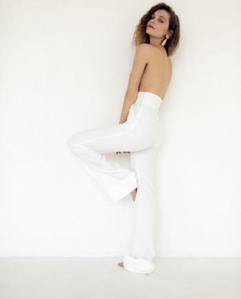 Молочные брюки с завышенной талией  World  (Арт 374)