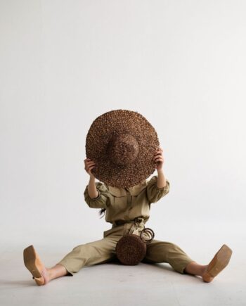 Бежевый хлопковый комбинезон Meyzieu (Арт 483)
