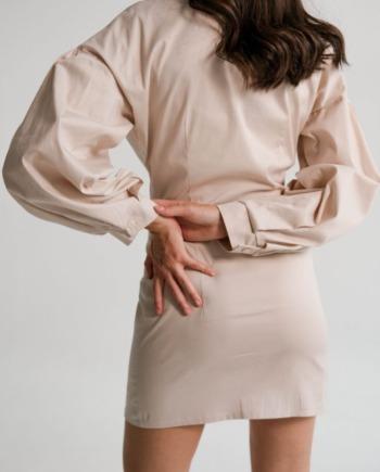 Молочное хлопковое платье-рубашка Mâcon (Арт 480)