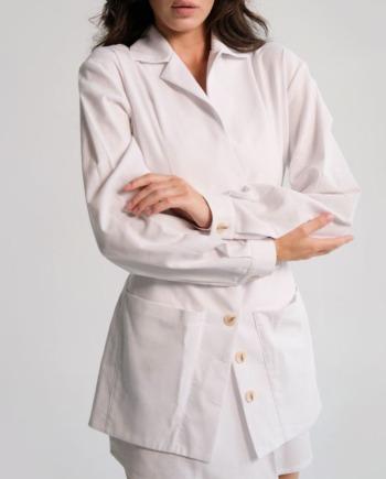 Белое льняное платье Liévin (Арт 481)