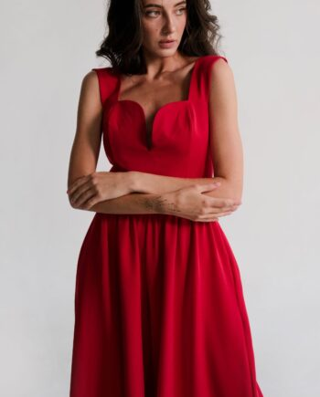 Красный комбинезон с широкими штанами Wanna it (Арт 351)
