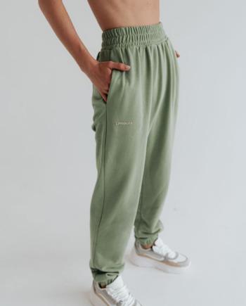 Оливковые штаны с завышенным поясом Tours (Арт 465)