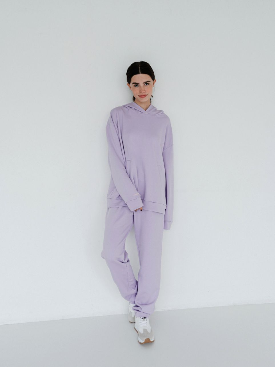 Amiens lilac wide trousers with high waist(SKU 469)